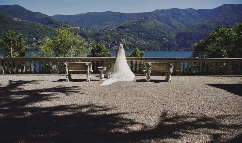 sposa in terrazza